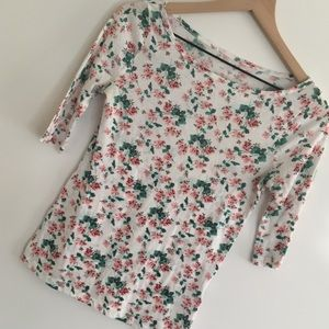 UO | BDG | Cream Pink Floral T Shirt Top | Size S